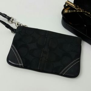 Coach wristlet  black canvas  purse bag